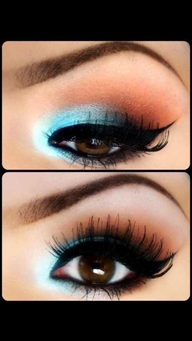 Smokey eyes blue