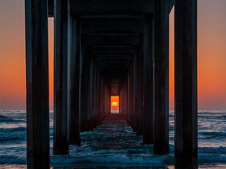Una imagen irrepetible de una puesta de sol en California - ANTENA 3 TV Una imagen irrepetible de una puesta de sol en California   Antena3