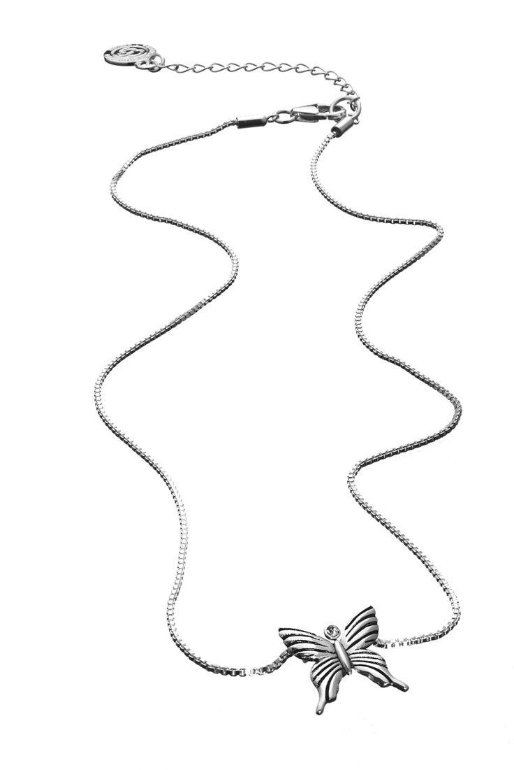 Bild på Lilla Fjärilen halsband - Äkta 925 silver - vuxen