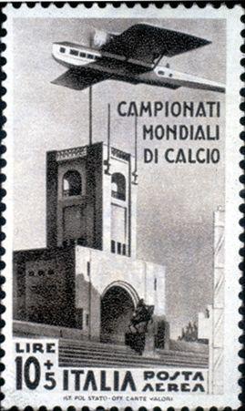 Francobollo dedicato ai Mondiali di calcio disputati in Italia nel '34