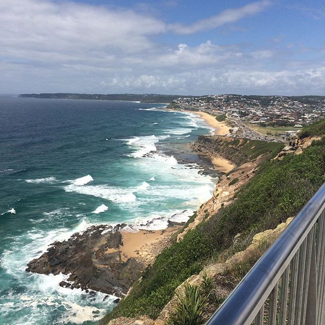 Gorgeous day walking the Anzac Memorial Walk in Newcastle, NSW.