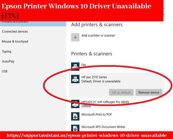 Epson Printer Windows 10 Driver Unavailable Fix Epson Printer Printer Epson