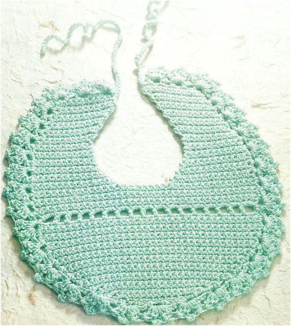 BIB baby blue crochet pattern and instructions por FernyUncinetto, €2.00