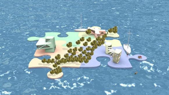 Future habitats Recycled Island