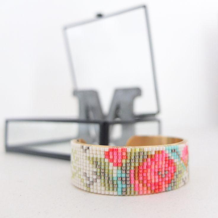 Bracelet Le printemps - grille téléchargeable - Vintage Magic
