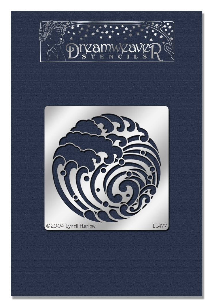 Stampendous Dreamweaver Pochoir en métal 4 x 6.875-inch-wave avec blason…