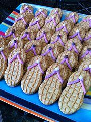 Nutter Butter Flip Flop Cookies-- pool party ideas