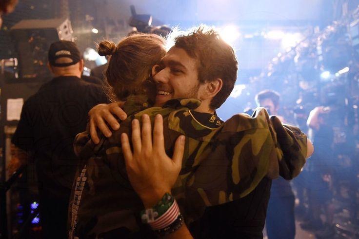 that-EDM-life : Photo David Guest a and Zedd hugging backstage Ultra Miami 2016