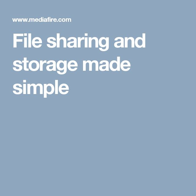 File sharing and storage made simple