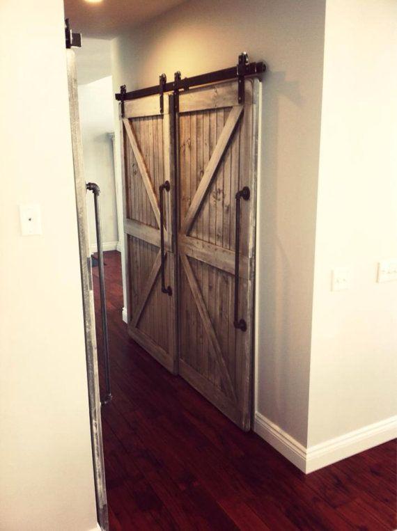 Bipass doors bypass shower door for Rustic interior barn doors