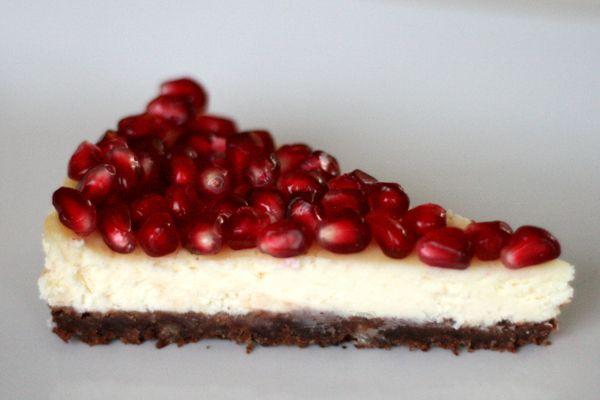Hvid chokolade-cheesecake