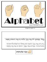 ASL Sign Language File Folder Game