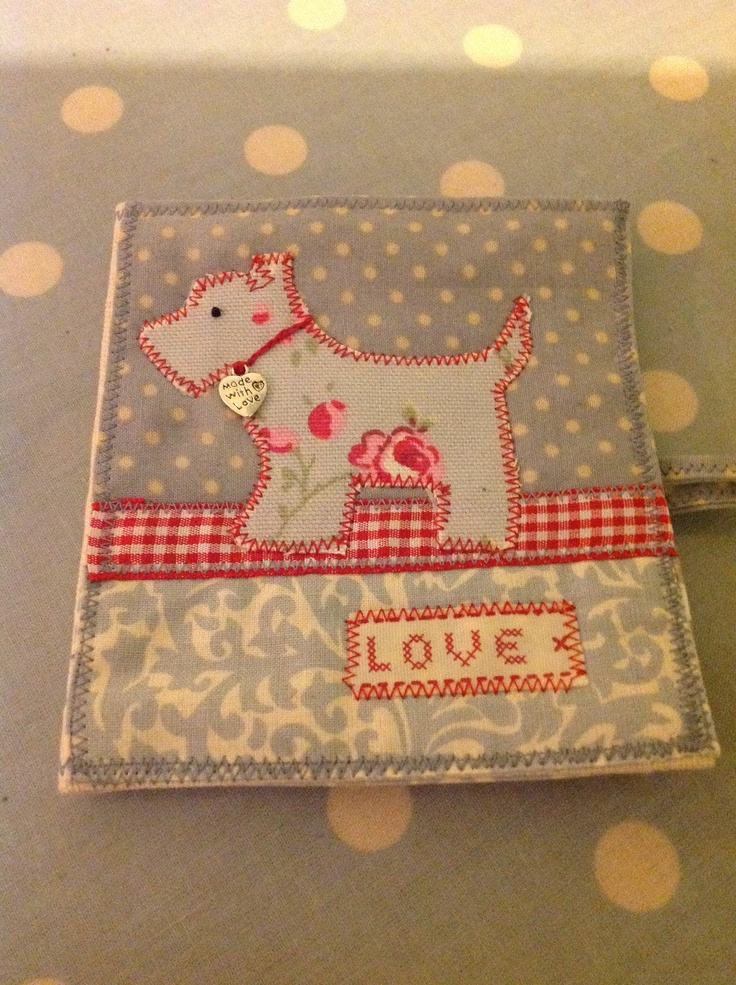 Little Scottie Dog needle case from 'Love Sewing' http://www.facebook.com/Lovesewing.uk