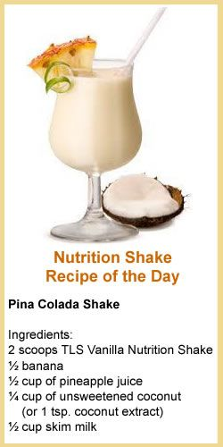 TLS Nutrition Shake Recipe Of The Day