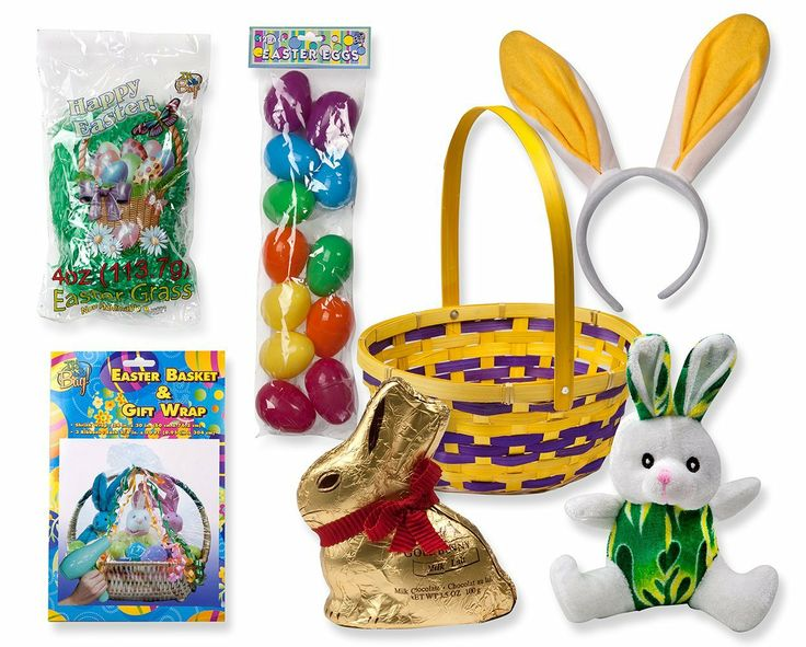 12 best easter gifts decorations images on pinterest easter easter gift basket complete with easter basket easter bunny bunny ears headband negle Gallery