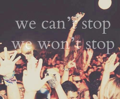 """""""We Can't Stop,"""" Miley Cyrus lyrics. i like most of the message of the song. Love who you want and  don;'t stop being you. However class and integrity are important."""