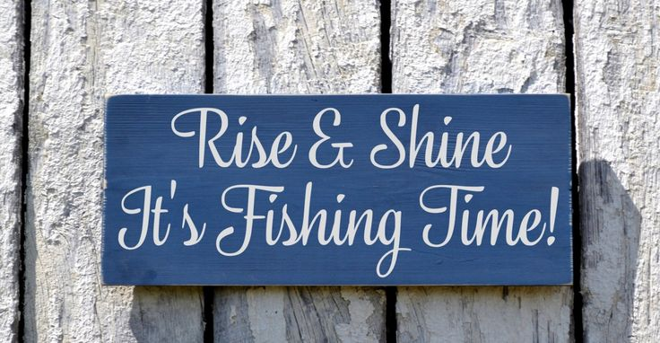 Fishing Sign Rustic Fish Wall Art Plaque Gifts For Fisherman Men Grandpa Pop Man Cave Him Guys Cabin Lodge Theme Lake Beach Sign Country