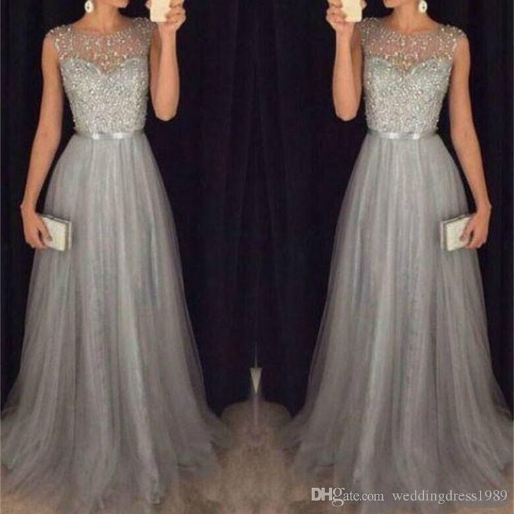 Join the party with the best party dresses uk online,party maternity dresses and party maxi dress and pay attention to trendy beads sequins sheer party dresses custom arabic sleeveless cheap grey tulle homecoming wear prom dress formal evening ball gowns provided by weddingdress1989.
