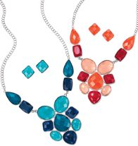 Bold Statement Necklace and Earring Gift Set - in both colors!!