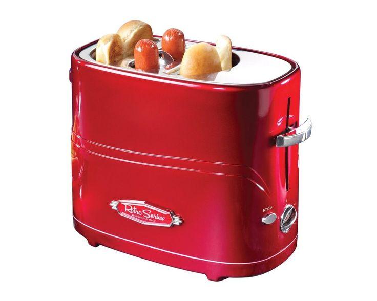 Hot Dog Toaster Machine Electric Cooker Retro Series Pop-Up Vindage New Red #NostalgiaElectrics