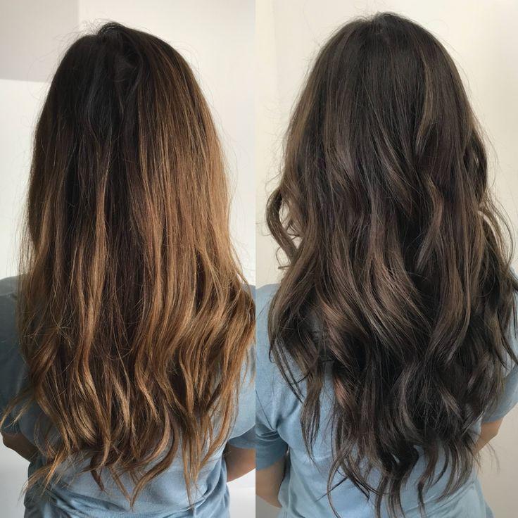 Warm Brunette Vs Ashy Brunette Toning Your Hair From Brassy To Ashy Brunette Hair Color Hair Color Light Brown Light Brown Hair
