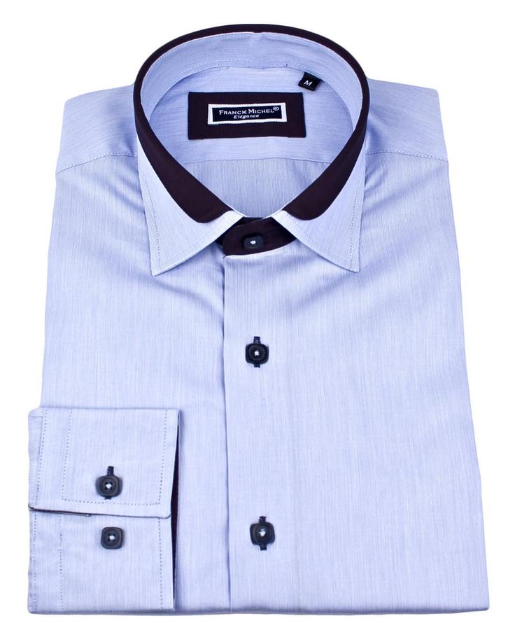 Men's designer shirts - Lyon milleret blue | UrUNIQUE.com