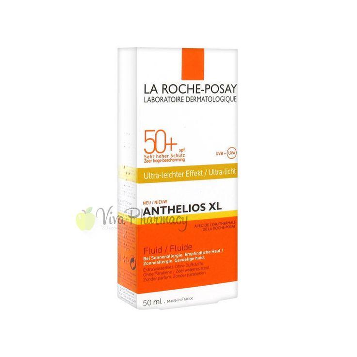 LA ROCHE POSAY ANTHELIOS XL FLUID SPF50+ 50ml - Vivapharmacy.gr - Online Φαρμακείο - Βρείτε καλλυντικά, βρεφικά προϊόντα, συμπληρώματα διατροφής