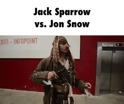 Jack Sparrow                vs. Jon Snow