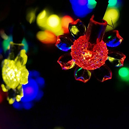 LED SopoTEK Solar Powered Christmas Light, 21ft 7 meters 50 LED Sunflower solar fairy String Lights for Outdoor, Gardens, Homes, Wedding, Christmas Party, Waterproof (50LED Multi-colored) -- Read review @