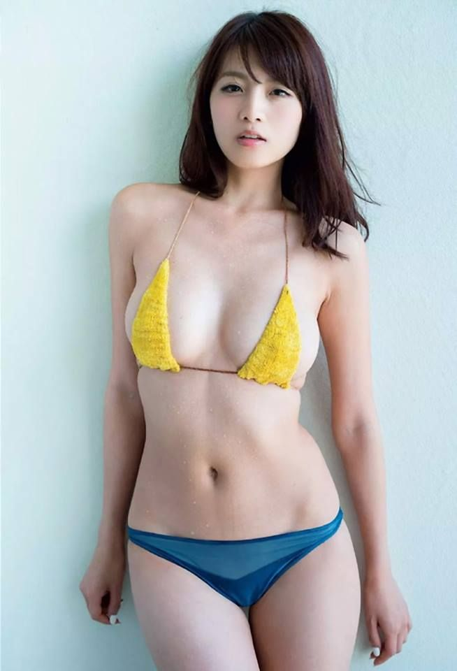 Think, that Lovely japanese model in black bikini Without variants