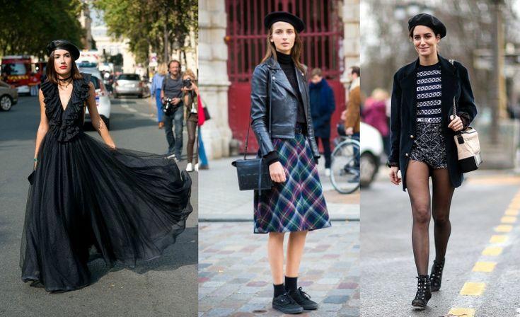 barett mütze stylen modern trend schwraz  #fashion #style