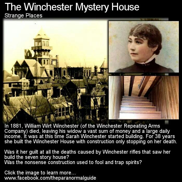 The Winchester mystery house, I really want to take the tour for this house