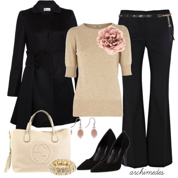 Work OutfitFlower Pin, Fashion, Fall Style, Offices Attire, Clothing, The Offices, Fall Outfit, Work Outfit, Work Attire