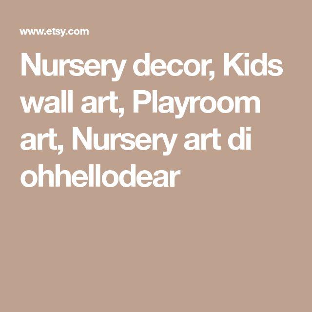 Nursery decor, Kids wall art, Playroom art, Nursery art di ohhellodear