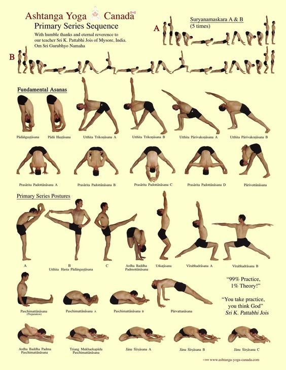 I've been looking for something like this.  A little routine to practice every morning before work.  THANK YOU!    Ashtanga Primary Series  http://www.ashtanga-yoga-canada.com/ashtanga-yoga-postures.html