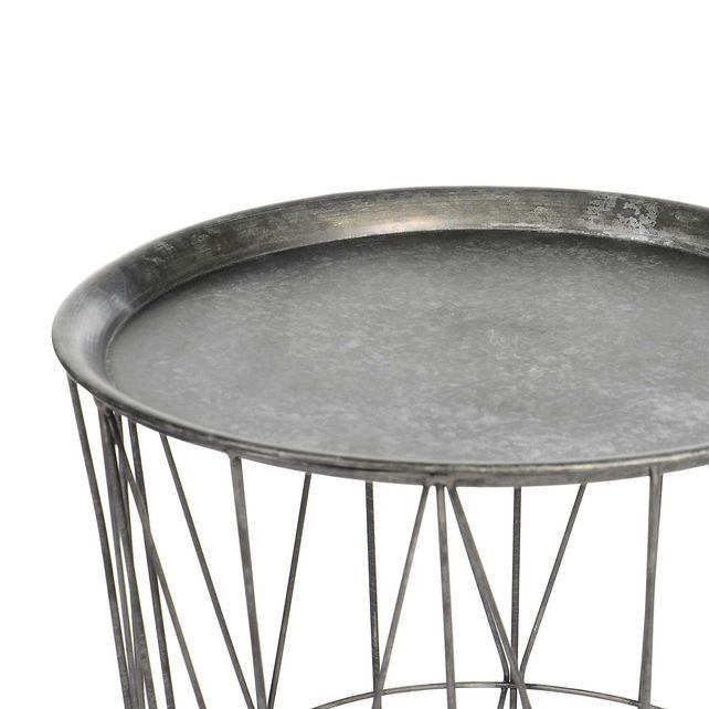 Beistelltisch Metall grau D:45 x H:60 cmBeistelltisch Metall grau D:45 x H:60 cm, grau