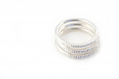 Stitch n' Stack Rings by Ebba Goring