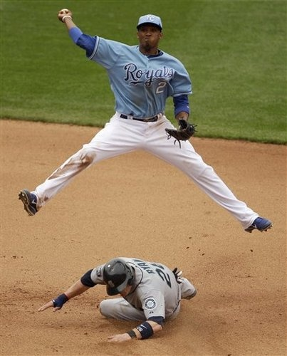 Alcides Escobar, SS ya buddy!!! Go ESCOBAR... Lets see these moves during the World Series!