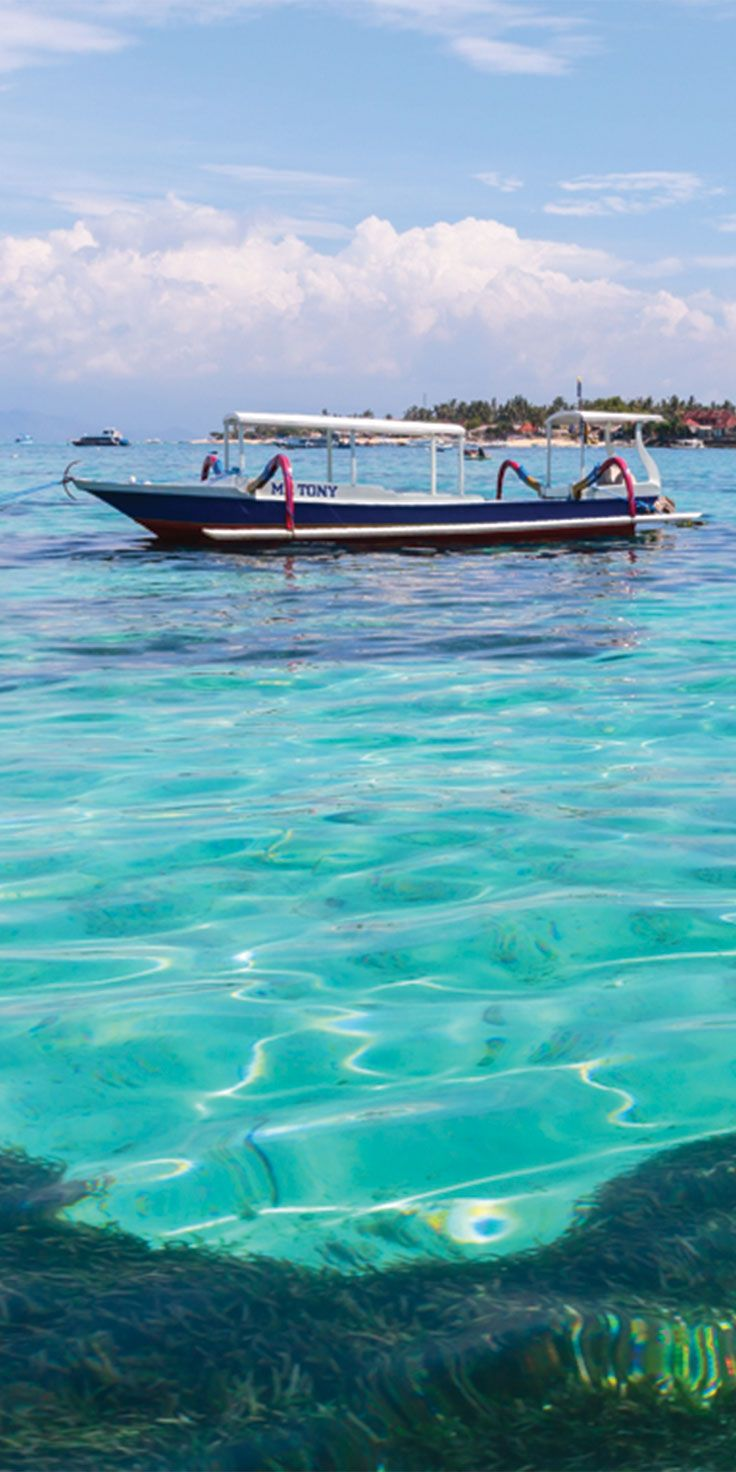Crystal clear waters around the island of Nusa Lembongan, Bali - by Jewels Lynch