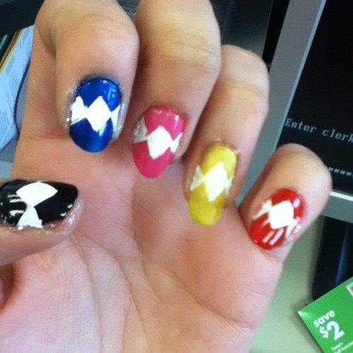 It's morphing time! Jamberry gives you perfect nails without layers of paint, drying time, and the inevitable disappointment & frustration that your Pin never looks like you want it to. Contact me at Facebook.com/amhardenjamberry to order Power Ranger-inspired wraps created in the Nail Art Studio!