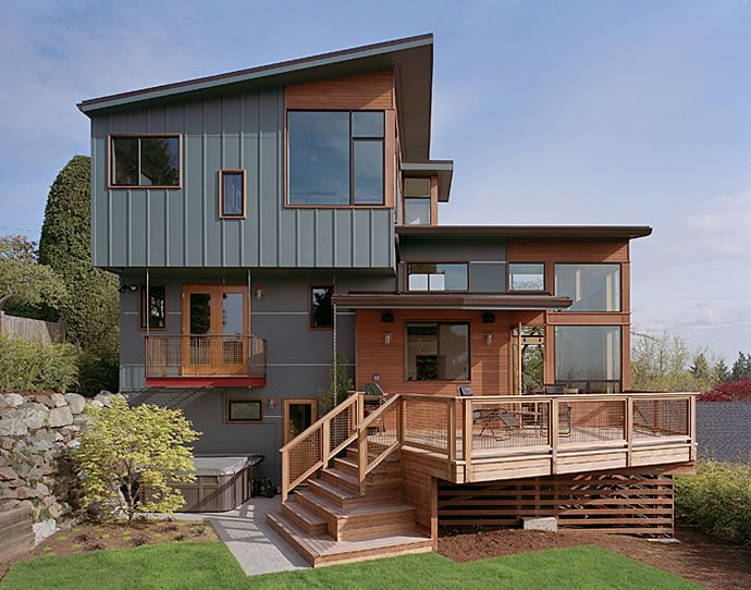 66 best siding ideas images on pinterest metal siding for Types of split level homes