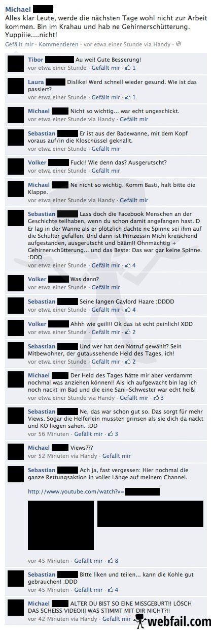 Mitbewohner des Grauens - Facebook Fail des Tages 02.06.2014 | Webfail - Fail Bilder und Fail Videos