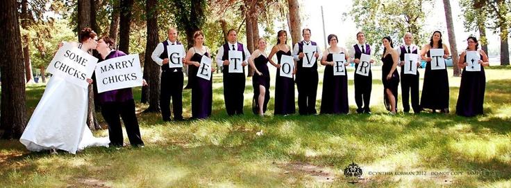 Adorable Lesbian Wedding Photo Idea! From:  Http://www.facebook.com/CynthiaKorman.Photography.Design | Love This |  Pinterest | Lesbian Wedding Photos, ...