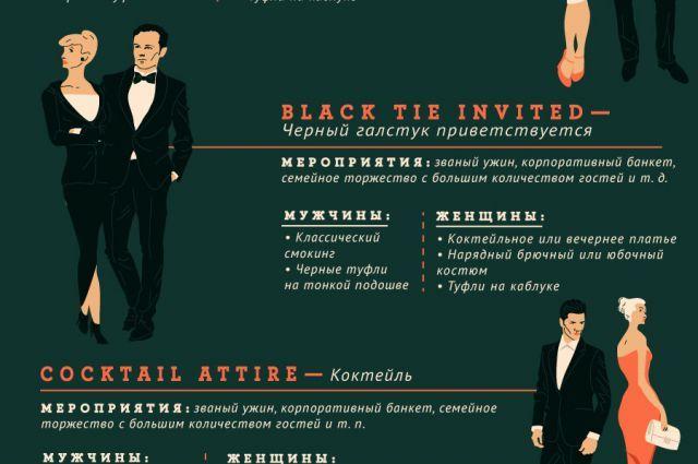 АиФ.ru рассказывает, что уместно надевать на различные мероприятия.