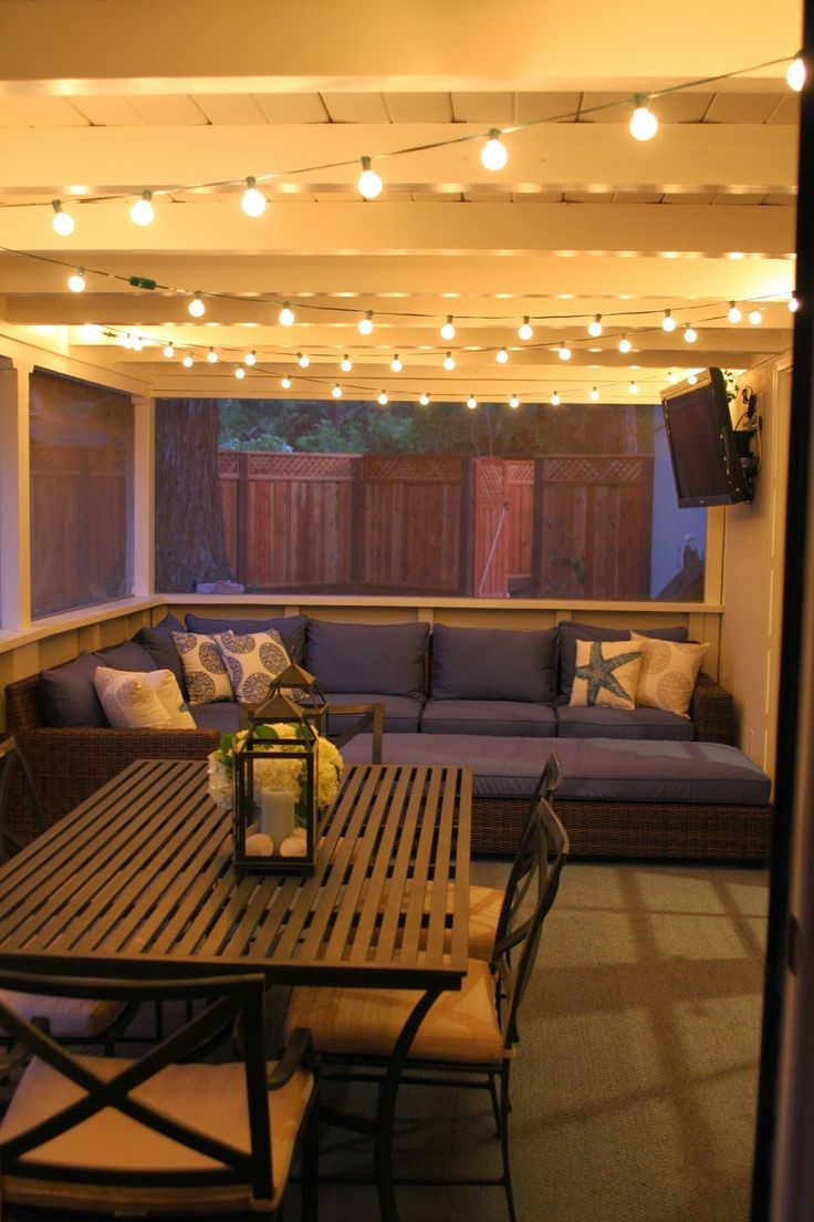 Love the lights. This wold be great for Summer nights.
