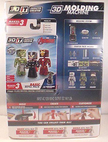 3DIT Bundle Character Creator Molding Machine & Marvel Avangers Refill Pack @ niftywarehouse.com