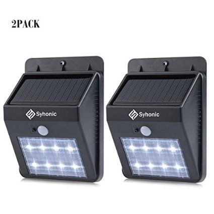 Solar Lights, Syhonic 8 LEDs Solar Powered Garden Waterproof Security Wireless Bright Motion Sensor spotlight Outdoor Wall Lights Wall Yard Deck Auto On / Off Night Lights (2 Pack), 2016 Amazon Hot New Releases Lamps & Light Fixtures  #Home-Garden