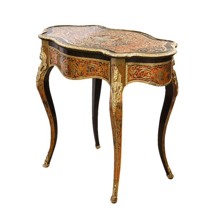 Red Boulle Serpentine Shaped French Centre Table - 589 Best Antiques Images On Pinterest Antiques, Baroque And Birds