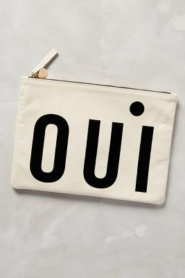 Clare V Oui Pouch Cream One Size Clutches #anthrofav #greigedesign