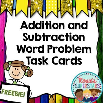 These 24 addition and subtraction word problems are a fun way for students to practice their skills. Double and triple digit addition and subtraction problems are included on these word problem task cards. Some of the problems do require regrouping. There are a few multistep problems included as well.